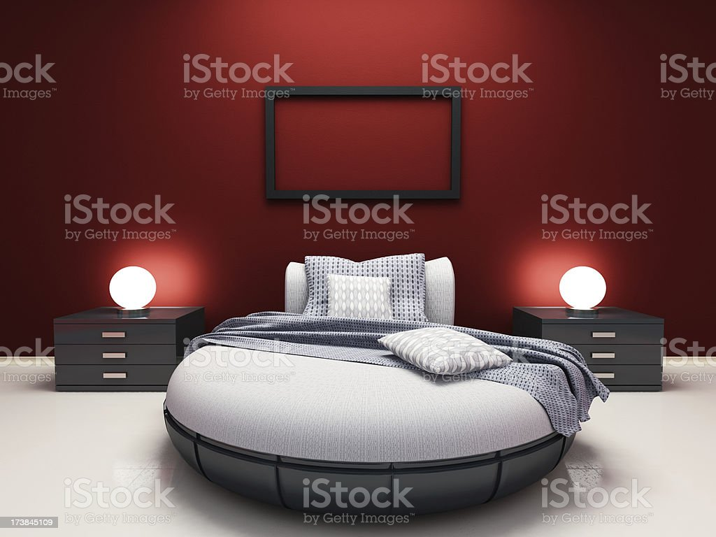 Modern Single Bedroom royalty-free stock photo