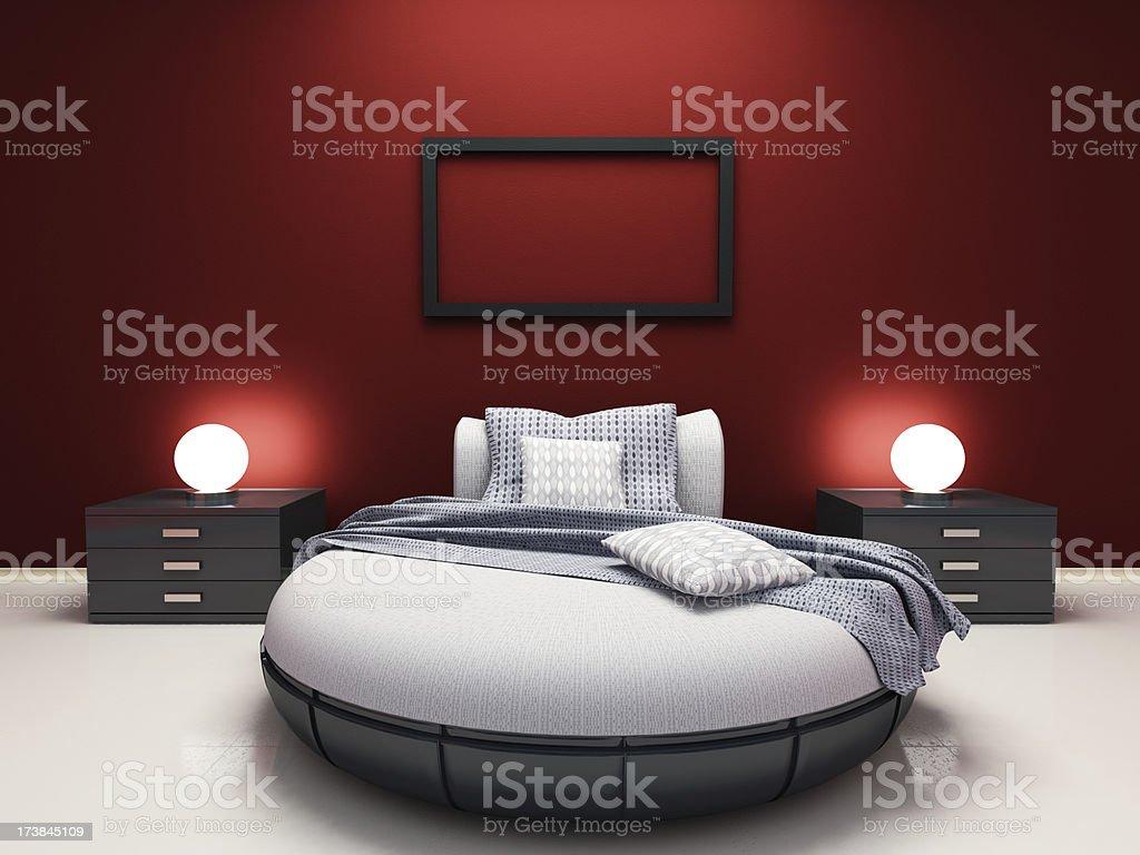 Modern Single Bedroom stock photo