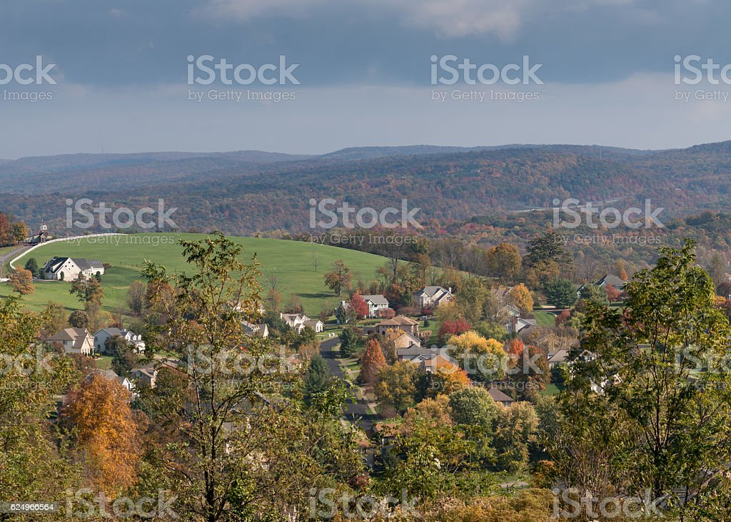 Modern single family homes in Morgantown WV stock photo