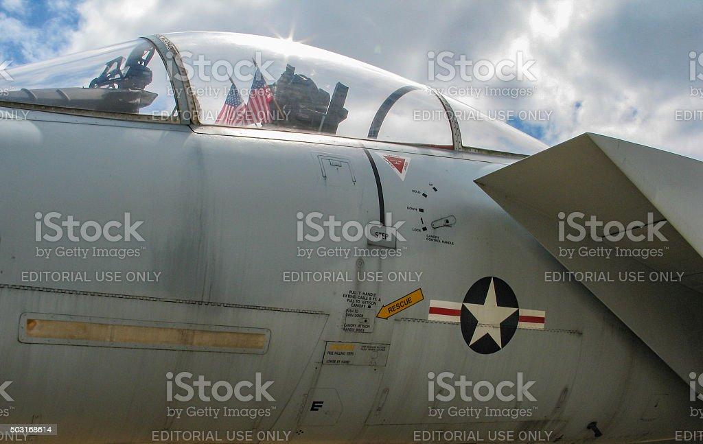 Modern Single Seat Jet Fighter stock photo