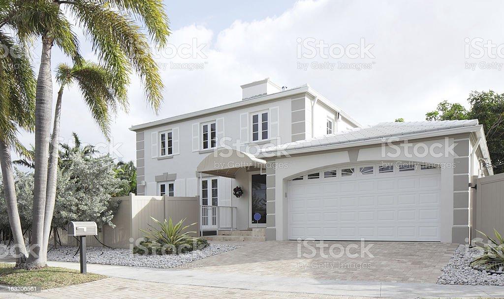 Modern single-family home stock photo