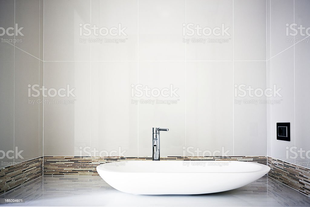 Modern Sink. Color Image royalty-free stock photo