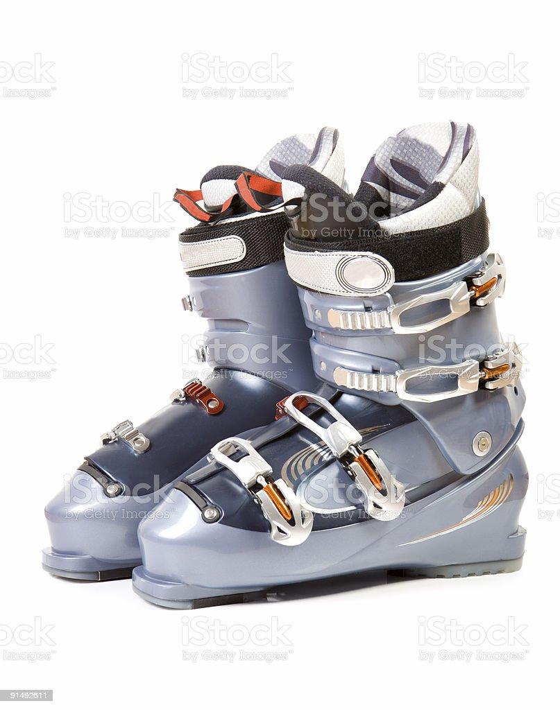 Modern ski boot stock photo