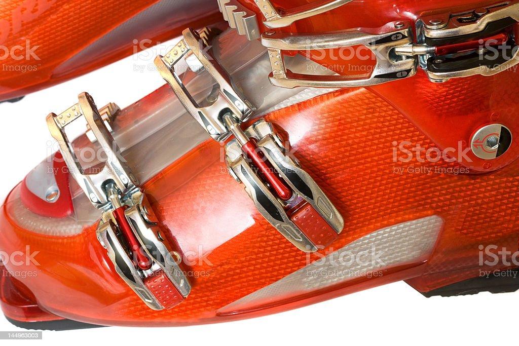 Modern ski boots royalty-free stock photo