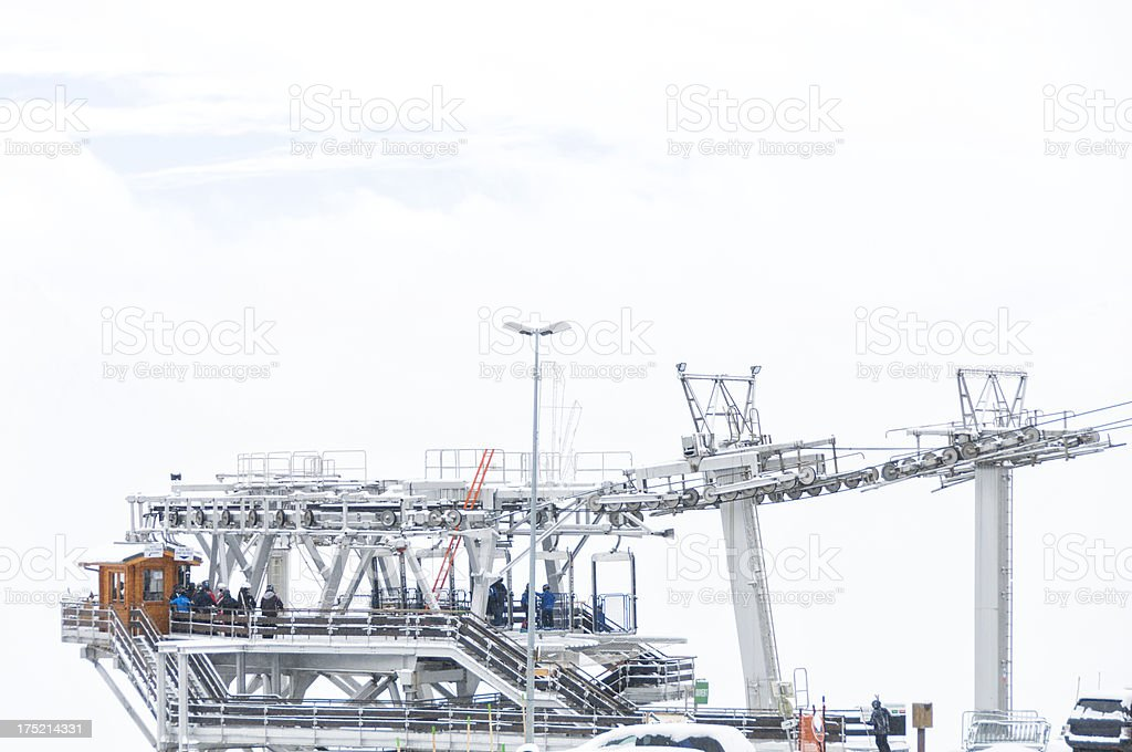 Modern Ski-lift royalty-free stock photo