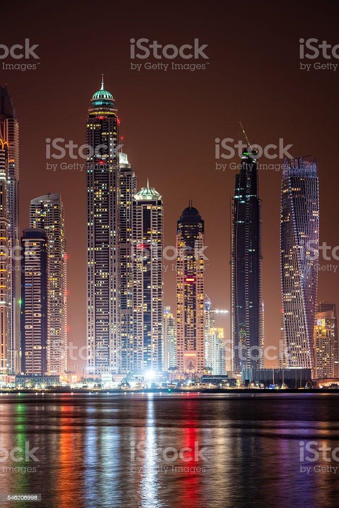 Modern skycrapers in Dubai marina, United Arab Emirates stock photo