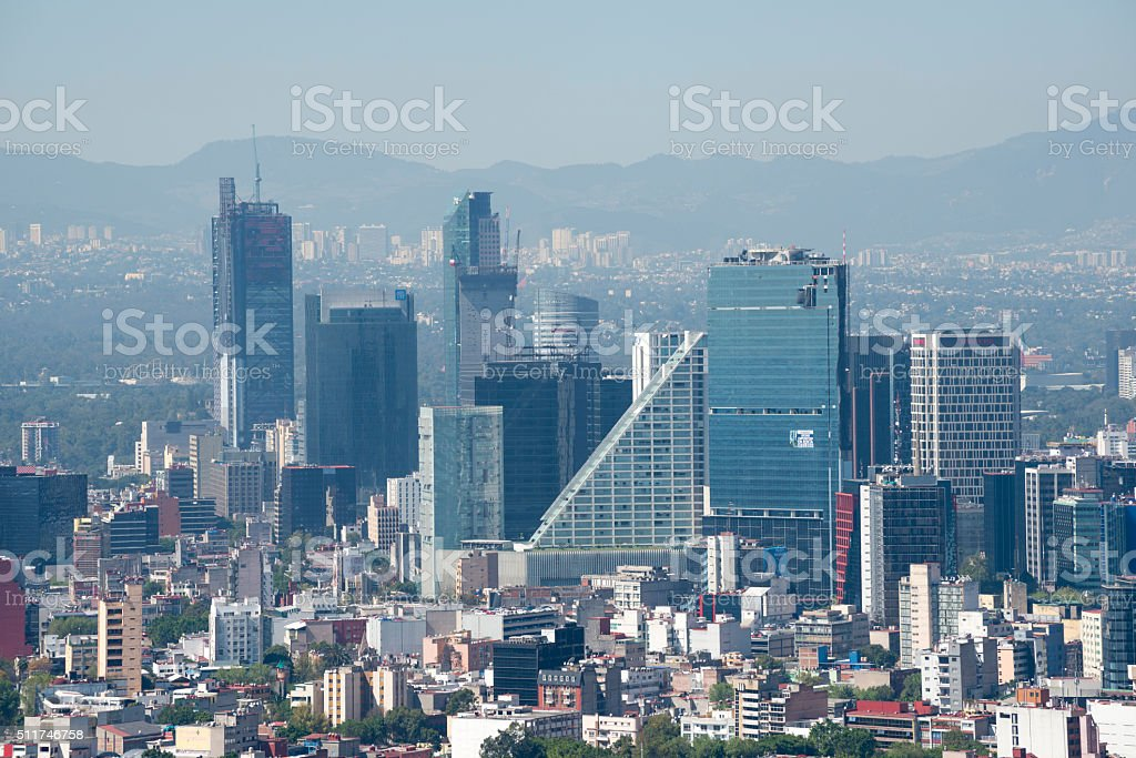 Modern skyline in Mexico City, Mexico stock photo