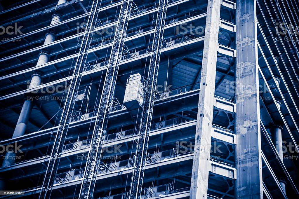 Modern skyscraper construction stock photo