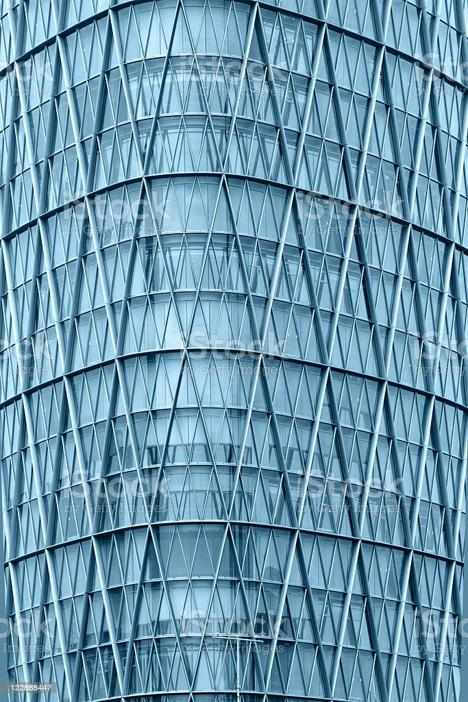 Modern skyscraper glass windows wall stock photo