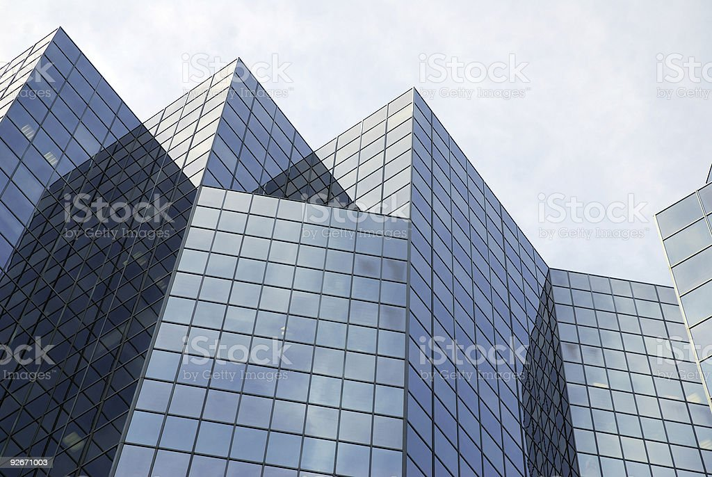 Modern skyscraper in downtown Montreal, Canada royalty-free stock photo