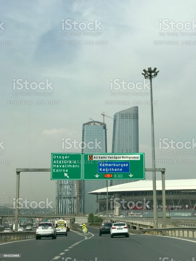 Modern skyscraper in Istanbul stock photo