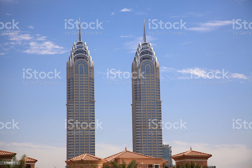 Modern skyscrapers at Dubai of UAE royalty-free stock photo
