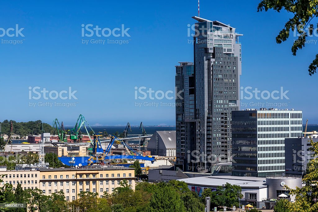 Modern skyscrapers, Gdynia, Poland stock photo