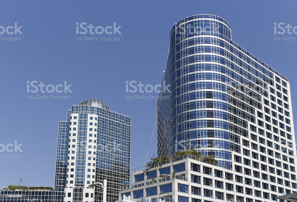 Modern Skyscrapers in Downtown Vancouver royalty-free stock photo