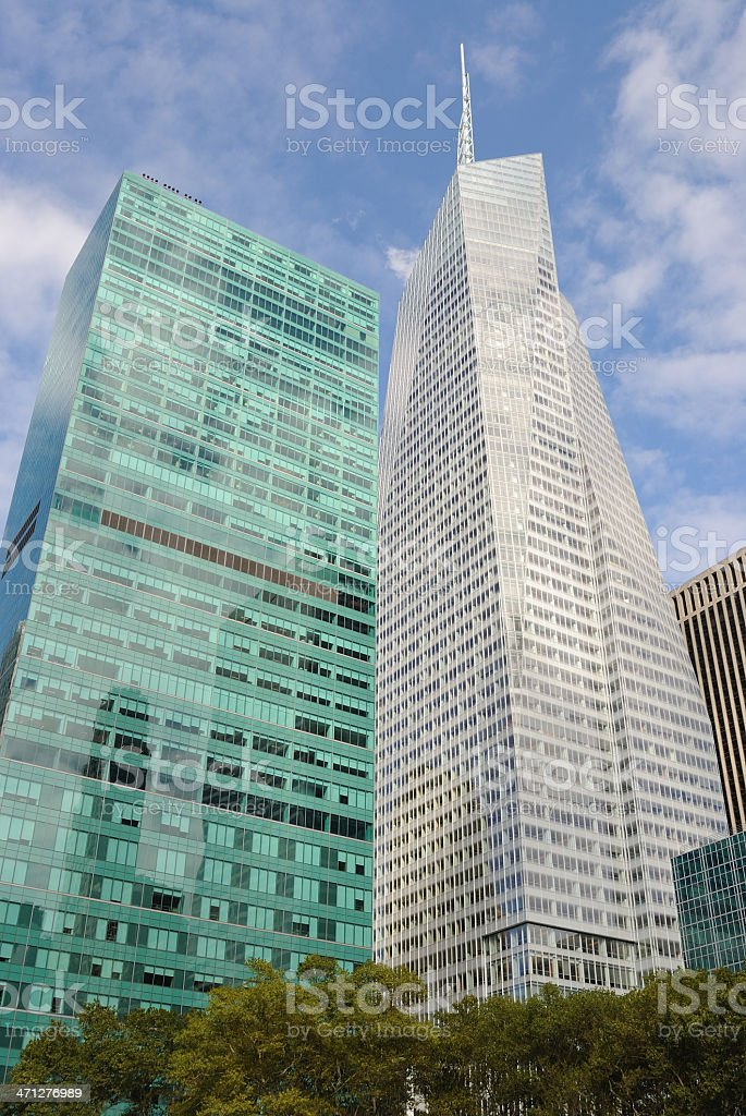 Modern Skyscrapers in New York City stock photo