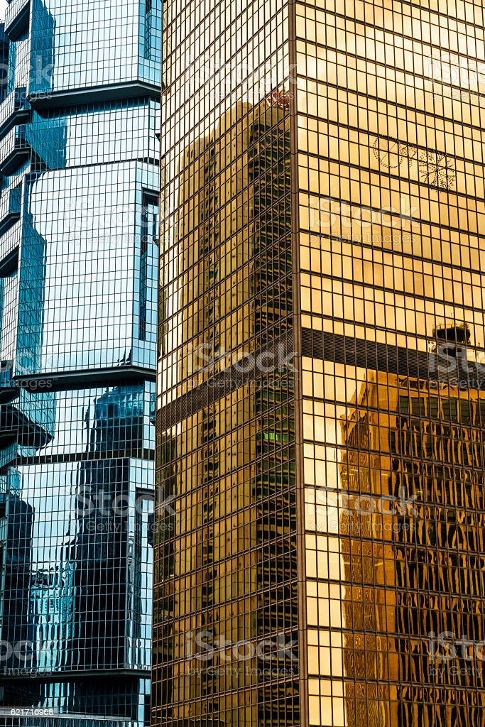 modern skyscrapers of Hong Kong stock photo
