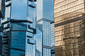 modern skyscrapers of Hong Kong