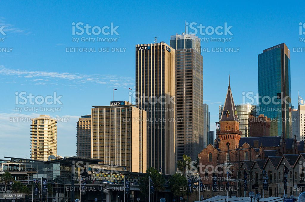 Modern skyscrapers of Sydney Central Business District stock photo