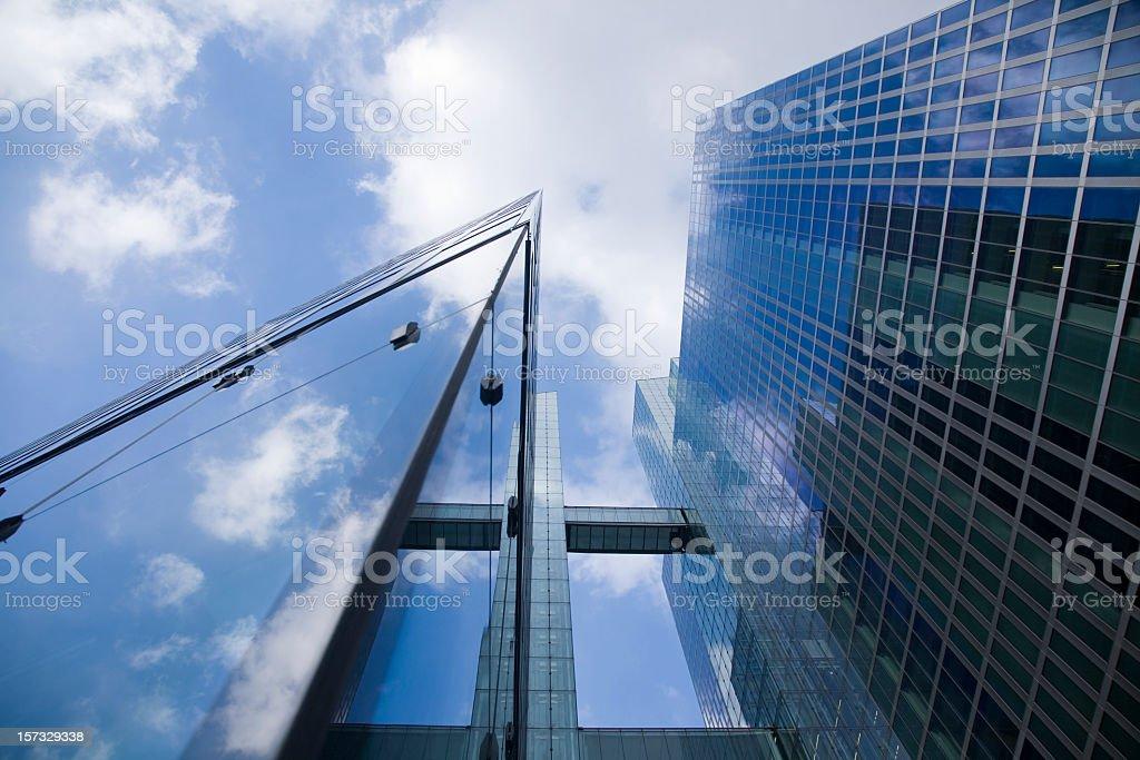 Modern skyscrapers viewed from below royalty-free stock photo