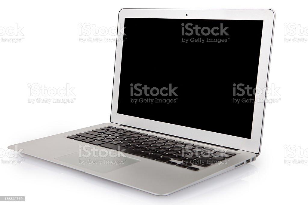 Modern slim laptop isolated on white royalty-free stock photo