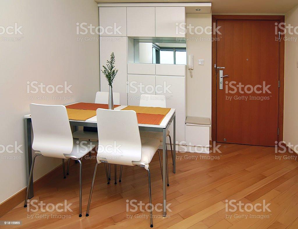 Modern small apartment interior royalty-free stock photo
