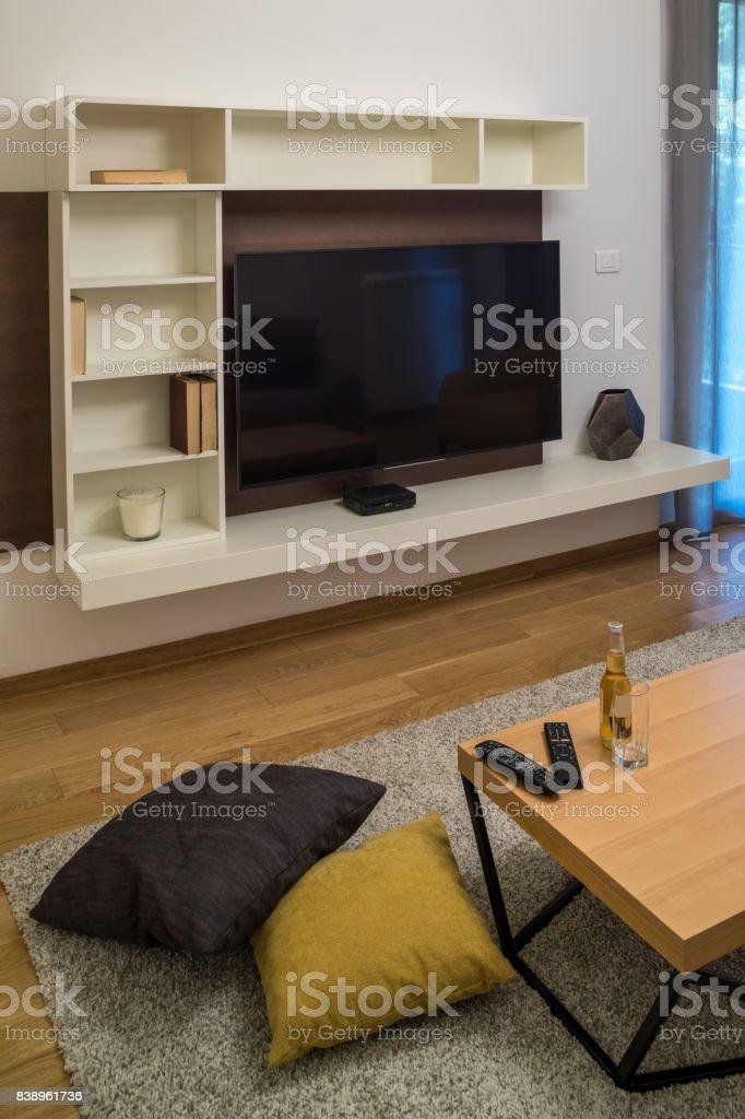 Modern Small European Interior Detail stock photo
