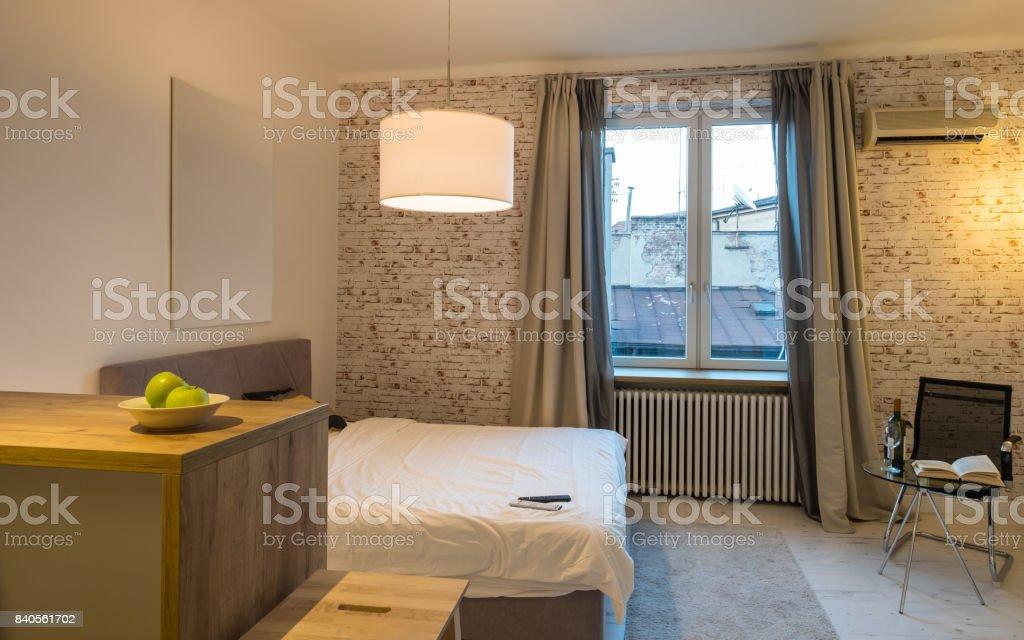 Modern Small European Interior stock photo