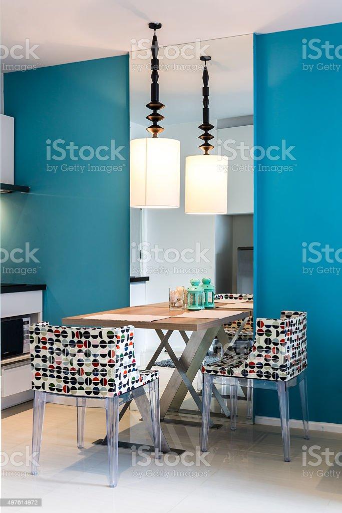 Modern small kitchen interior. stock photo