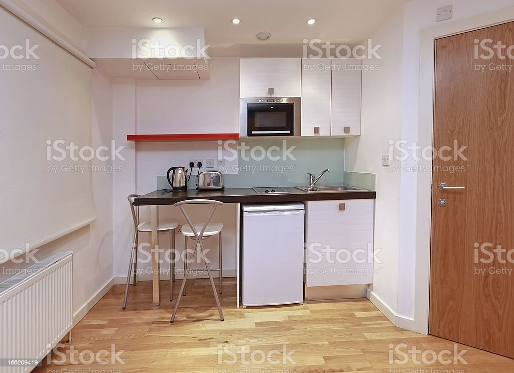 Modern small kitchen stock photo