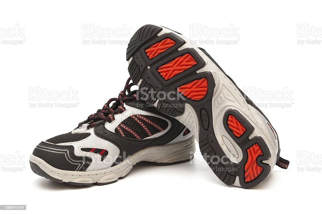 modern sneakers stock photo