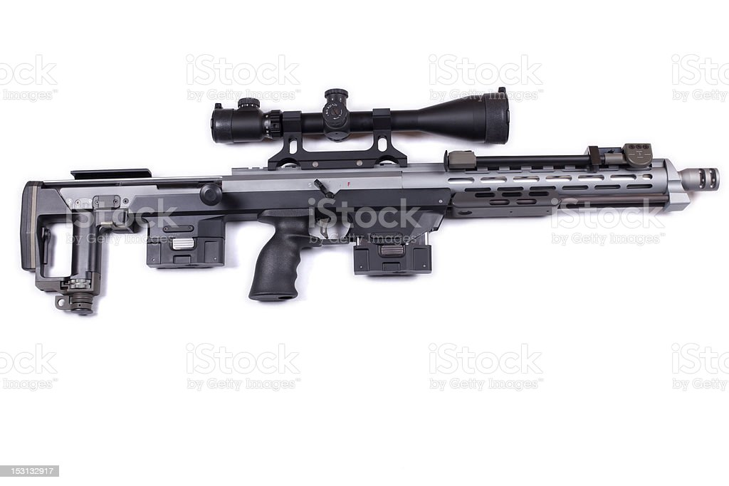 Modern Sniper Rifle royalty-free stock photo