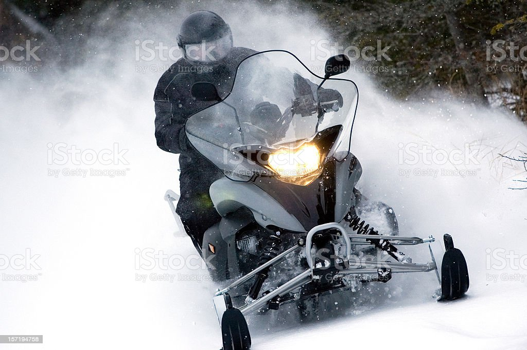 Modern Snowmobile stock photo