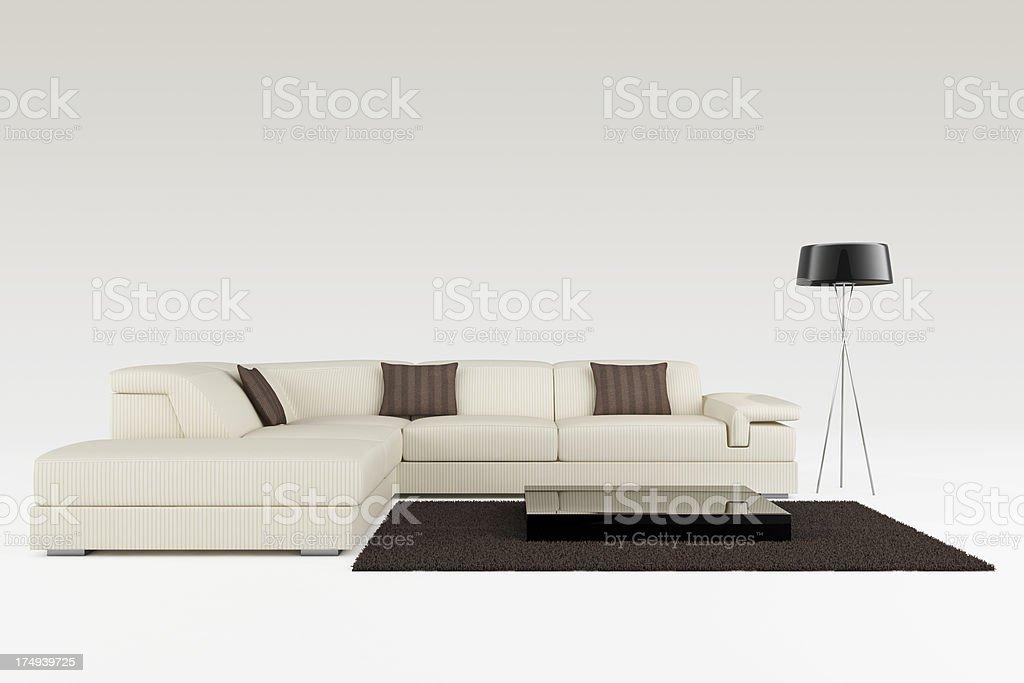 Modern Sofa - Clipping path royalty-free stock photo