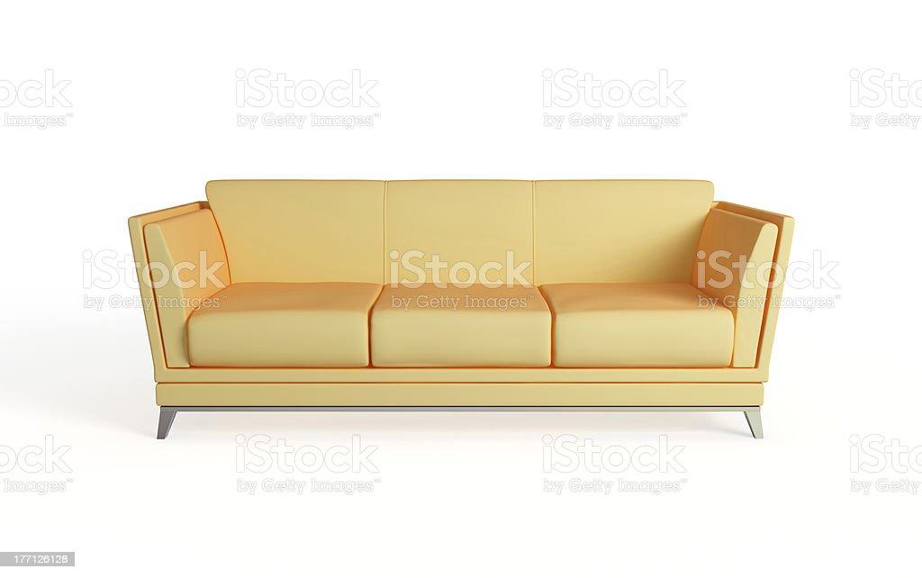 Modern sofa. royalty-free stock photo