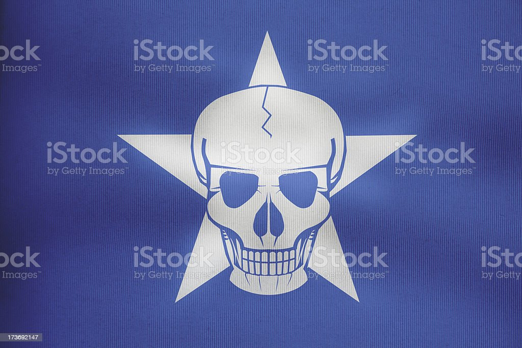 modern Somali pirate flag stock photo