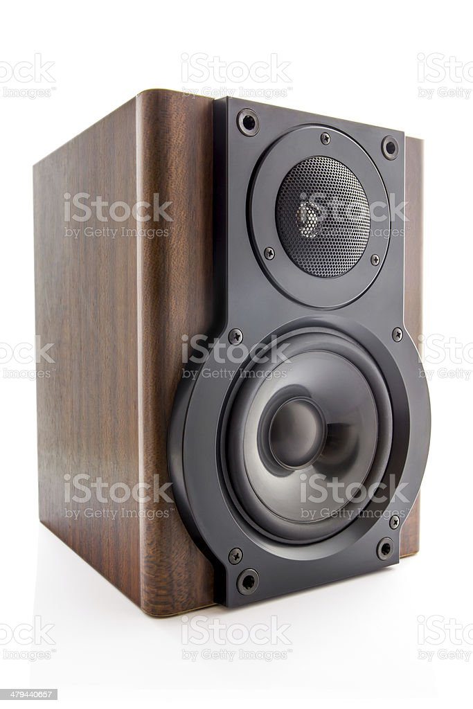 Modern sound speaker stock photo