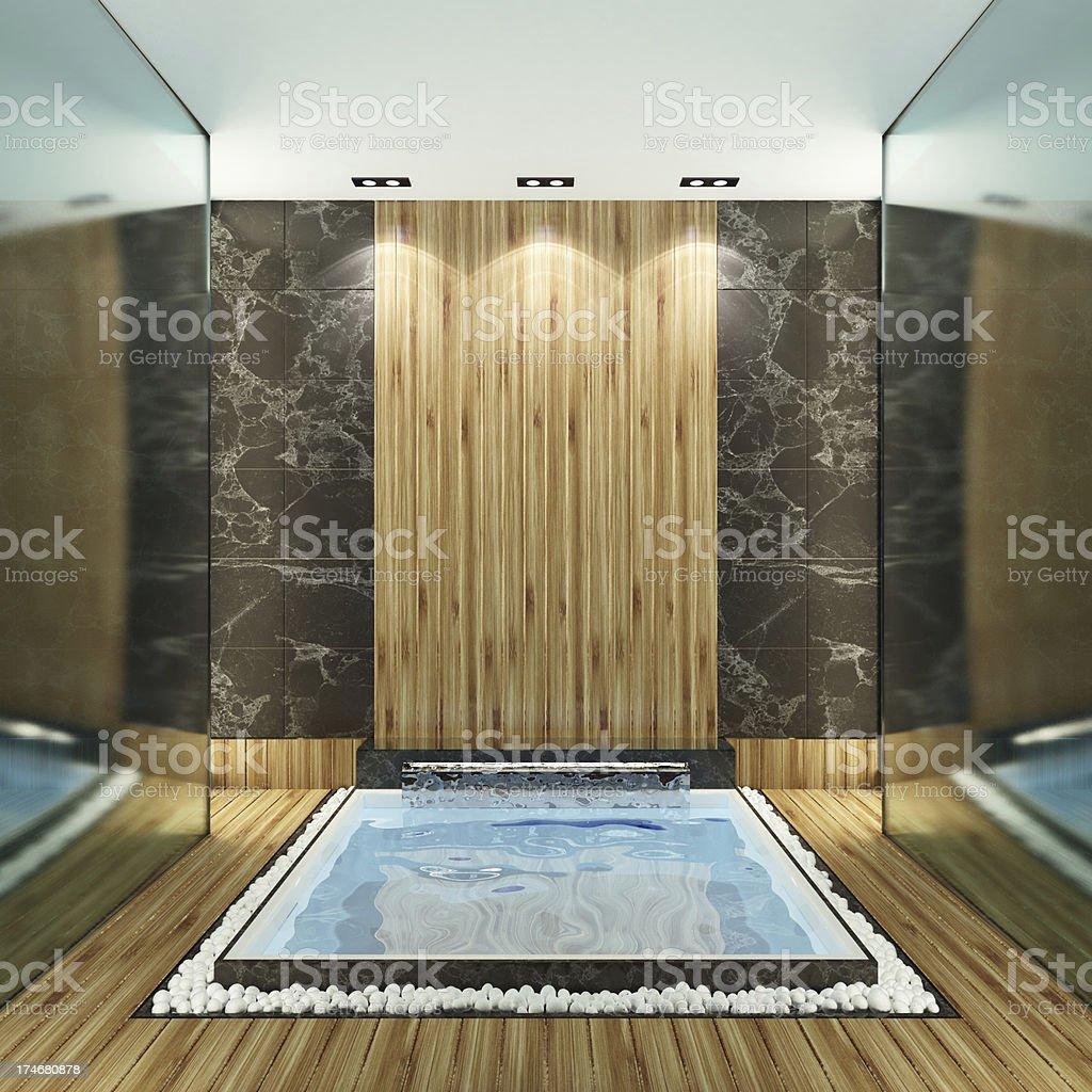 Modern Spa Bathroom royalty-free stock photo