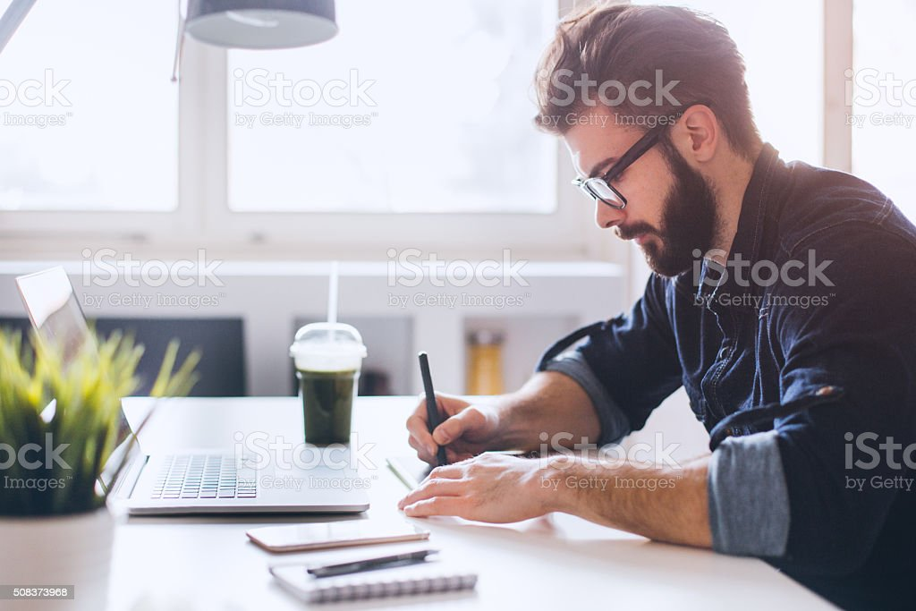 Modern space make it easy to work stock photo