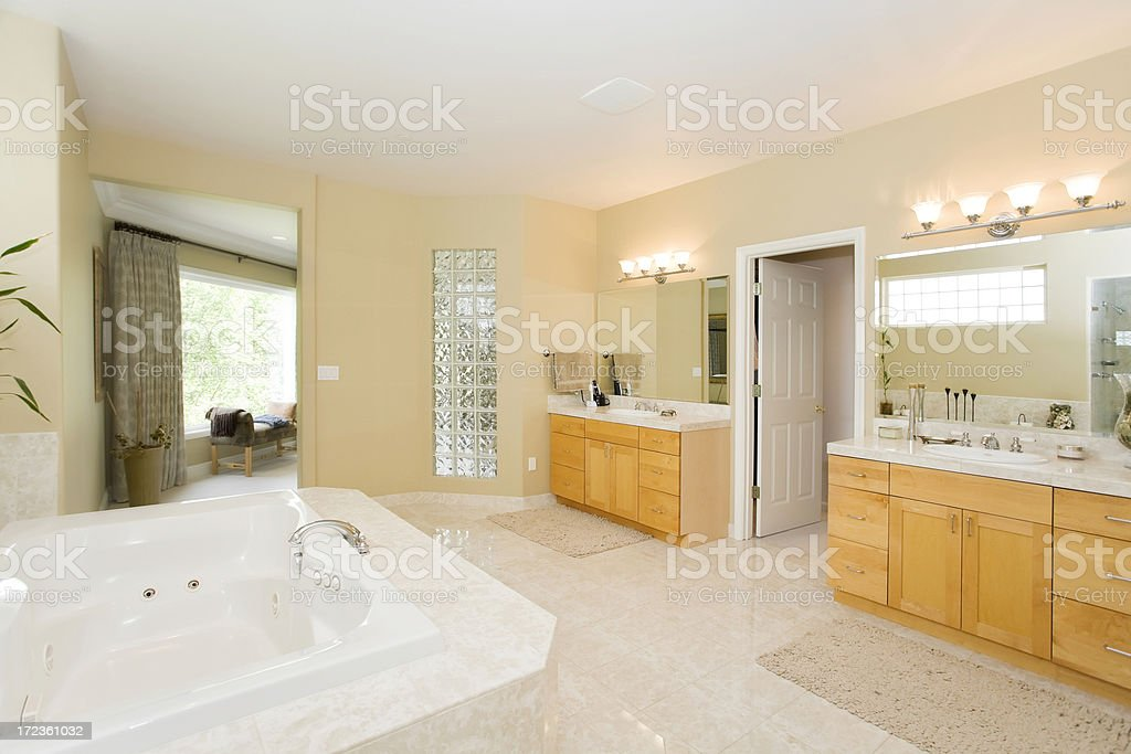 Modern Spacious Bathroom royalty-free stock photo