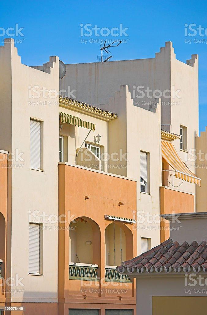 Modern Spanish architecture royalty-free stock photo