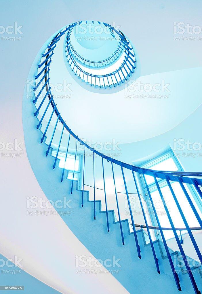 Modern spiral staircase stock photo