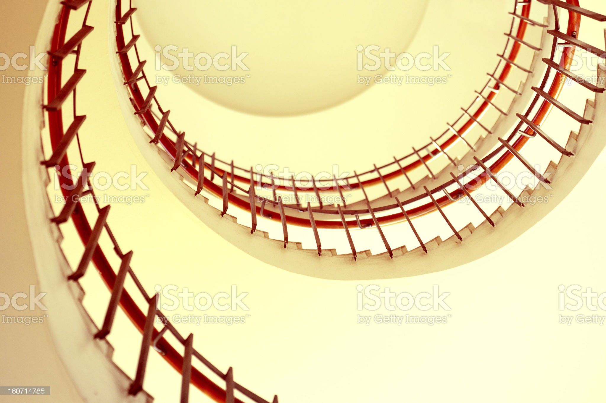 Modern spiral staircase royalty-free stock photo