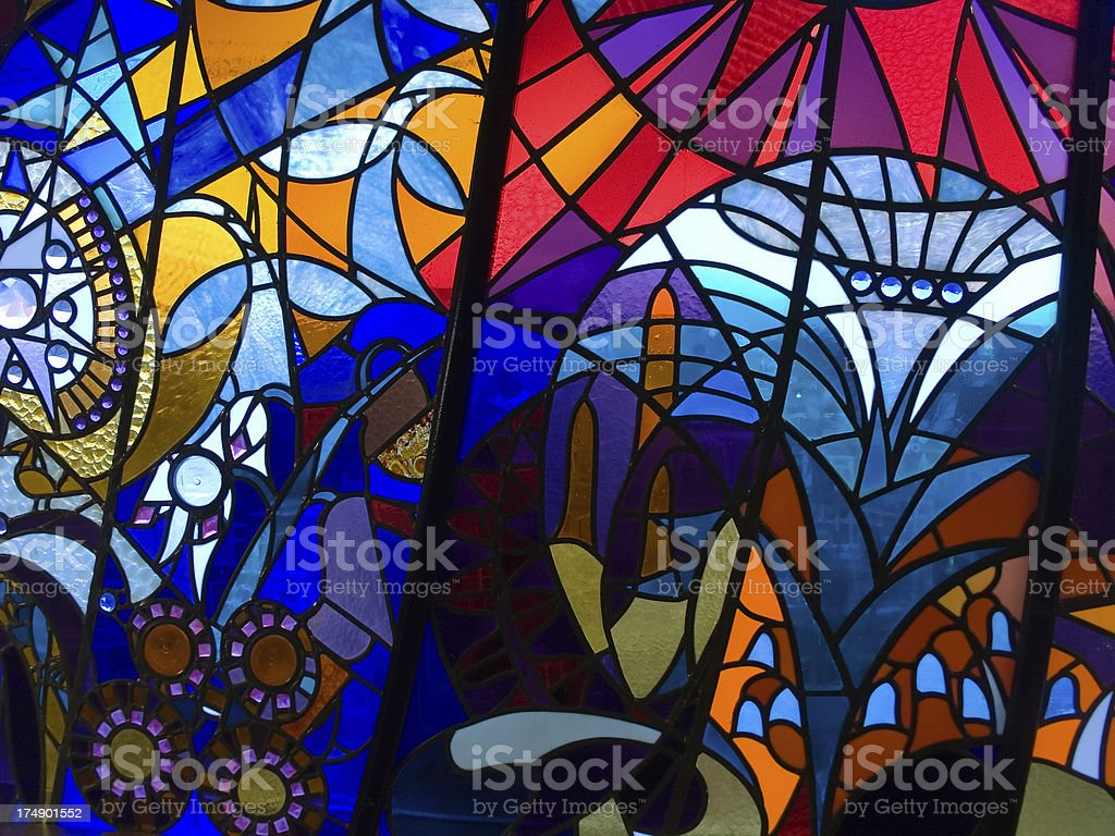 Modern Stained Glass Window royalty-free stock photo