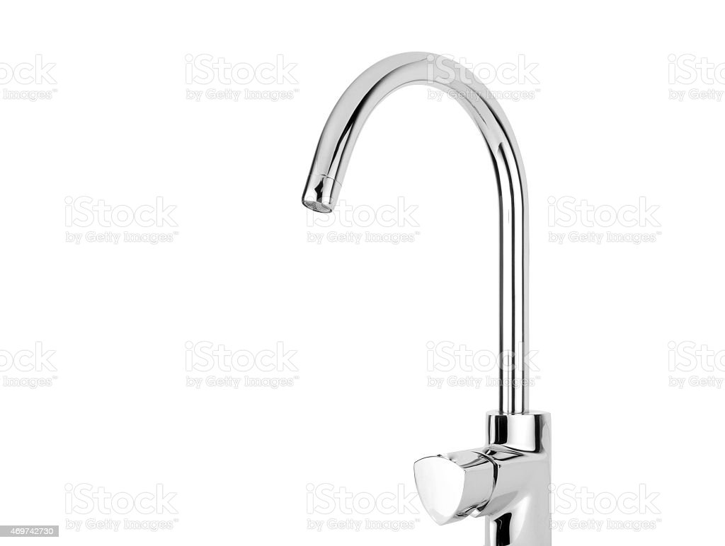Modern stainless steel tap stock photo