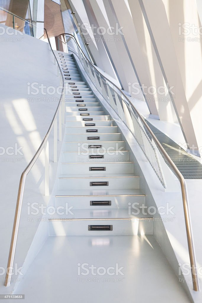 Modern Stairway Architecture royalty-free stock photo