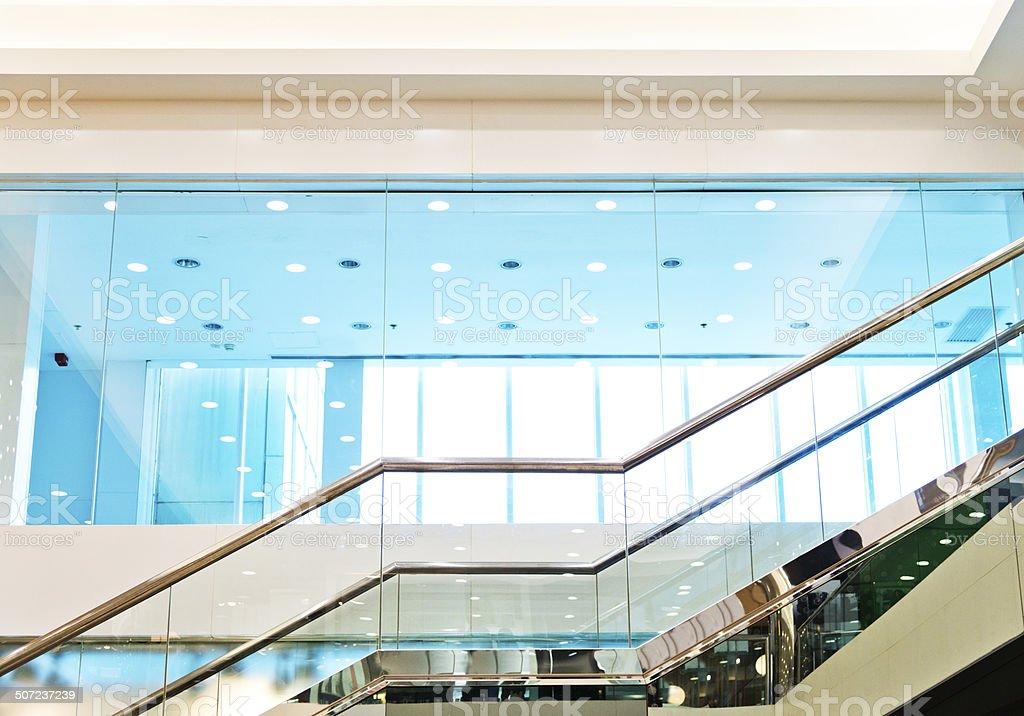 modern stairway stock photo