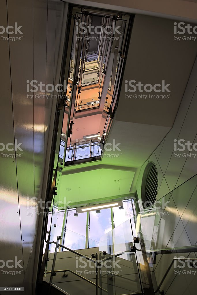 Modern Stairwell royalty-free stock photo