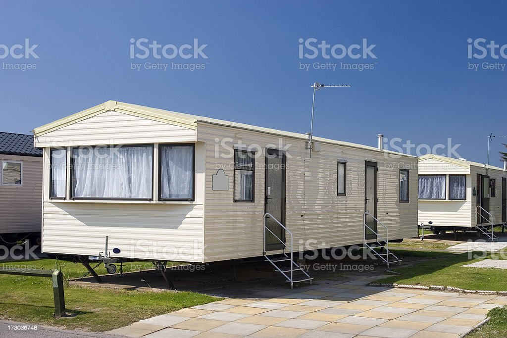 Modern static holiday caravan royalty-free stock photo