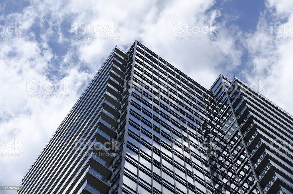 modern steel and glass building royalty-free stock photo