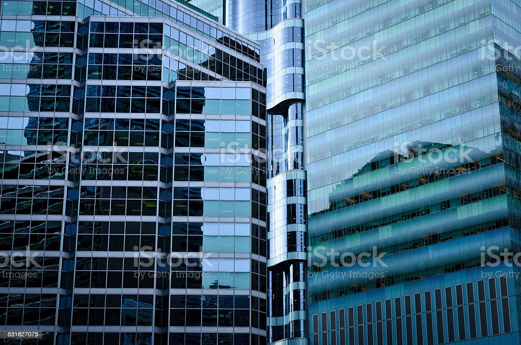 modern steel and glass buildings royalty-free stock photo